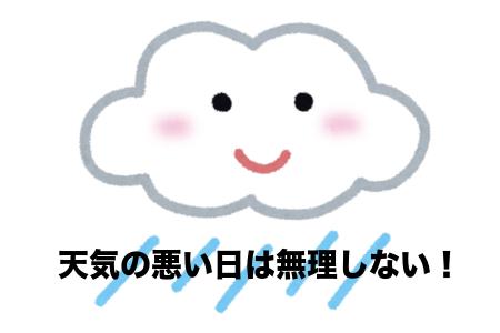 天気の悪い日