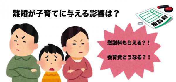離婚の子供への影響と慰謝料、養育費